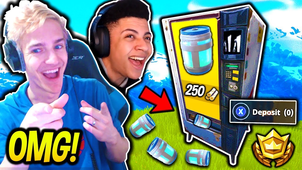 NINJA & MYTH REACT TO *NEW* VENDING MACHINE IN FORTNITE!! + REAL GAMEPLAY | Fortnite SAVAGE Mome