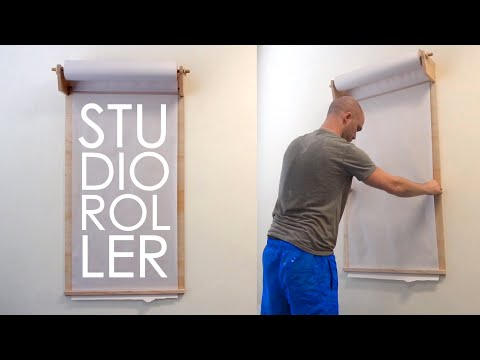 How To Make A Studio Roller/Kraft Paper Dispenser | Woodworking