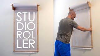How To Make A Studio Roller/Kraft Paper Dispenser   Woodworking
