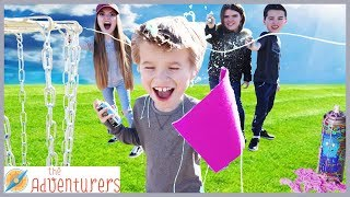 Capture The Flag Silly String Tag / That YouTub3 Family I The Adventurers