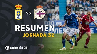 Resumen de Real Oviedo vs RC Deportivo (1-1)