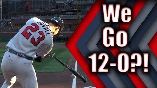WE WENT 12-0?! CRAZY GAMES! MLB THE SHOW 19 BATTLE ROYALE DIAMOND DYNASTY!