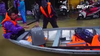 VTC14 | Phố cổ Hội An (Quảng Nam) chìm trong biển nước khi bão số 12 Damrey đi qua