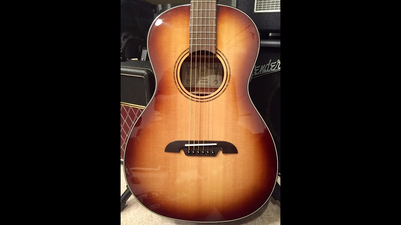 alvarez ap610eshb parlor guitar youtube. Black Bedroom Furniture Sets. Home Design Ideas