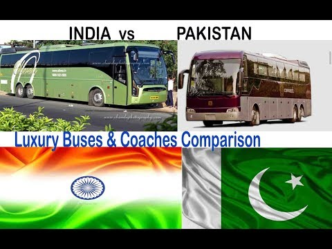 INDIAN LUXURY BUSES VS PAKISTAN LUXURY BUSES 2017 || Latest Full Comparison ||