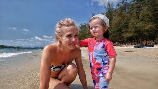 На МОРЕ НА МАШИНЕ ПАТТАЙЯ ТАИЛАНД Военный Пляж | Самый Семейный Влог 37