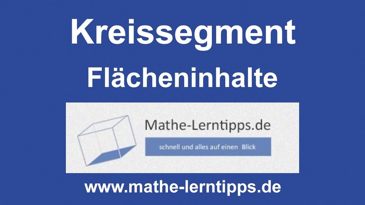 kreissegment fl cheninhalt berechnen mathe lerntipps. Black Bedroom Furniture Sets. Home Design Ideas