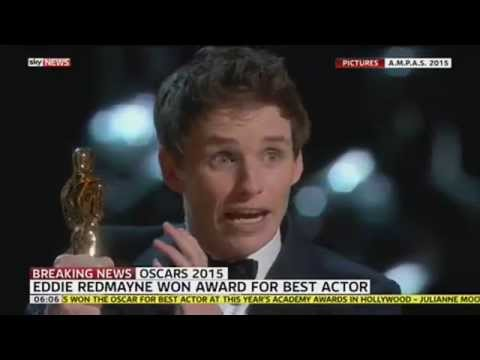 Oscars 2015: Eddie Redmayne Dedicates Oscar To ALS Sufferers