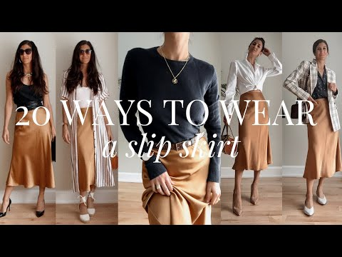 20 Slip Skirt Outfit Ideas | Styling Closet Essentials | Slow Fashion - YouTube