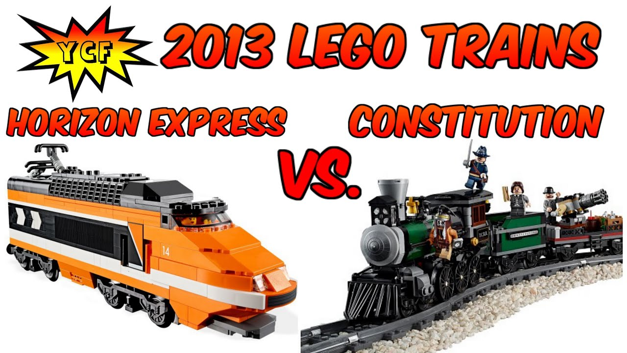 2013 LEGO Trains Comparison : Horizon Express 10233 Vs. Constitution Train  Chase - YouTube