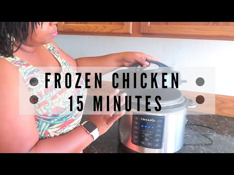 How To Cook Frozen Chicken In CROCKPOT EXPRESS COOKER