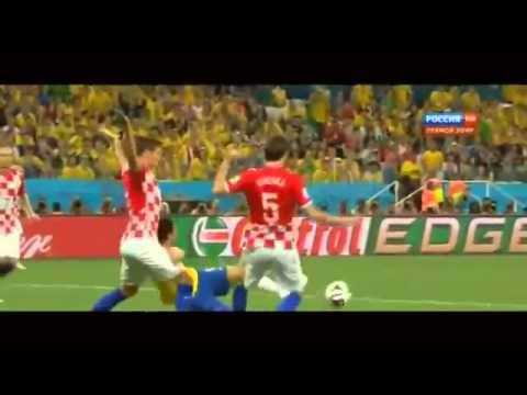 Fred Dive for Penalty in  Brazil World cup