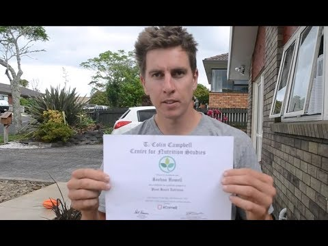 i completed the t.colin campbell plant based nutrition course -