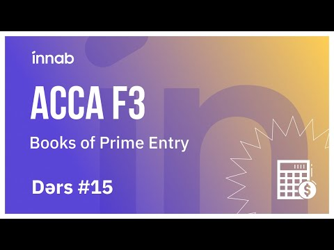 ACCAF3 Ders 15 - Books of Prime Entry