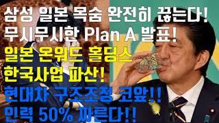 삼성 일본 목숨 완전히 끊는다! 무시무시한 Plan A 발표! 일본 온워드 홀딩스  한국사업 파산!