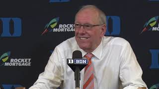 Jim Boeheim Press Conference at Duke