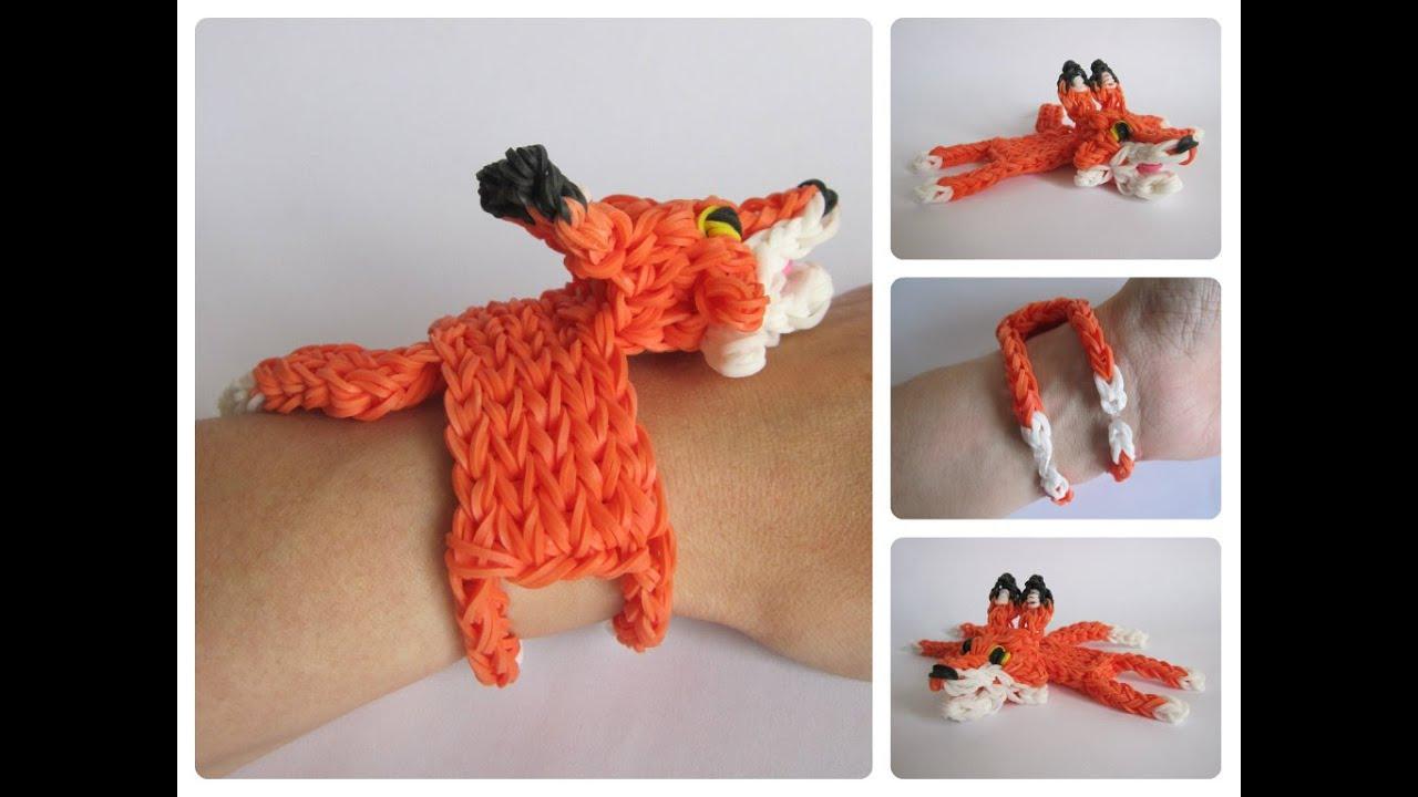 Rainbow Loom Fox Bracelet Loombicious Youtube