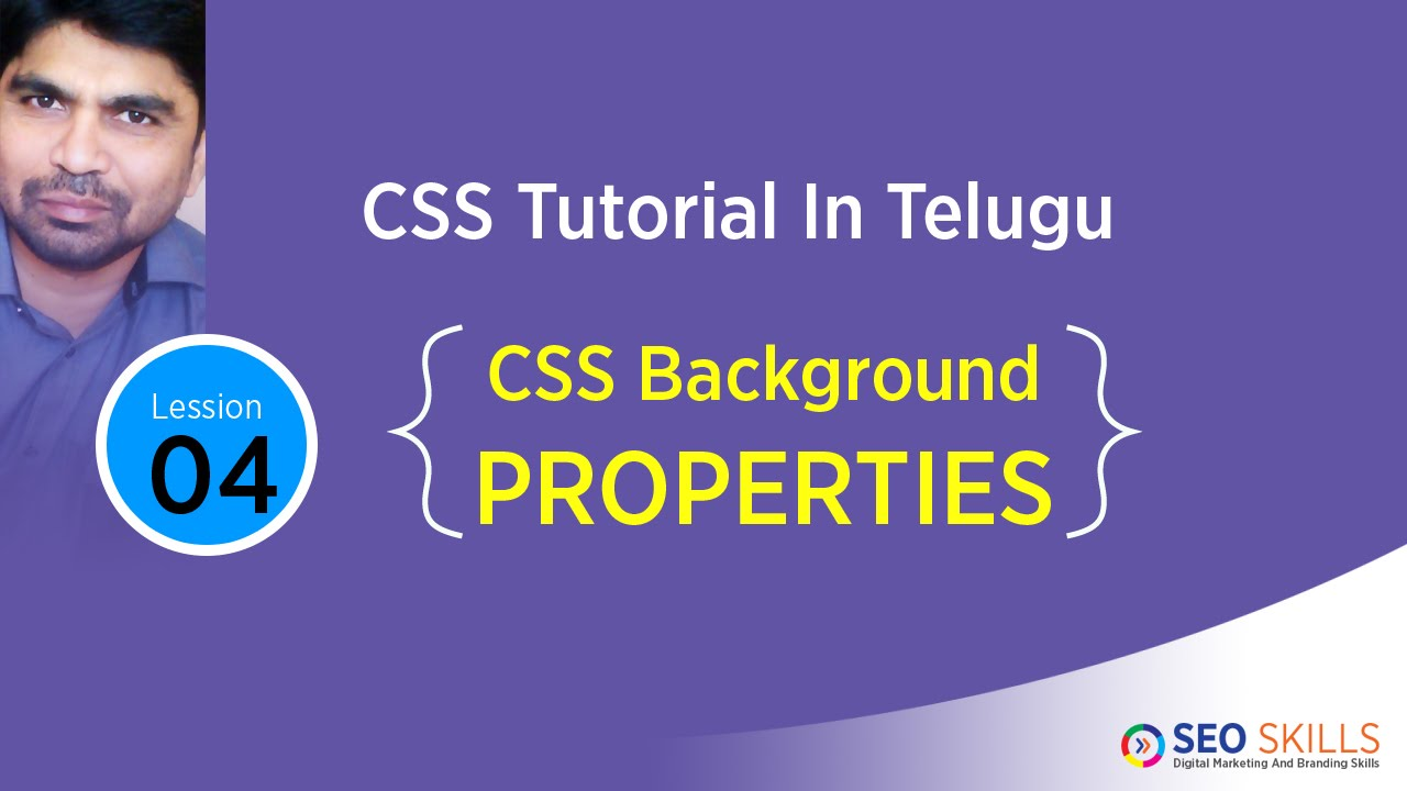 Background image css properties - Css Tutorial In Telugu Background Properties Colour Image Position Attachment