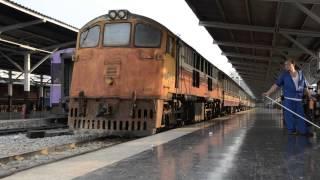 Ancient SRT GE Diesel Locomotives 4001 and 4009 shunting at Bangkok Railway Station