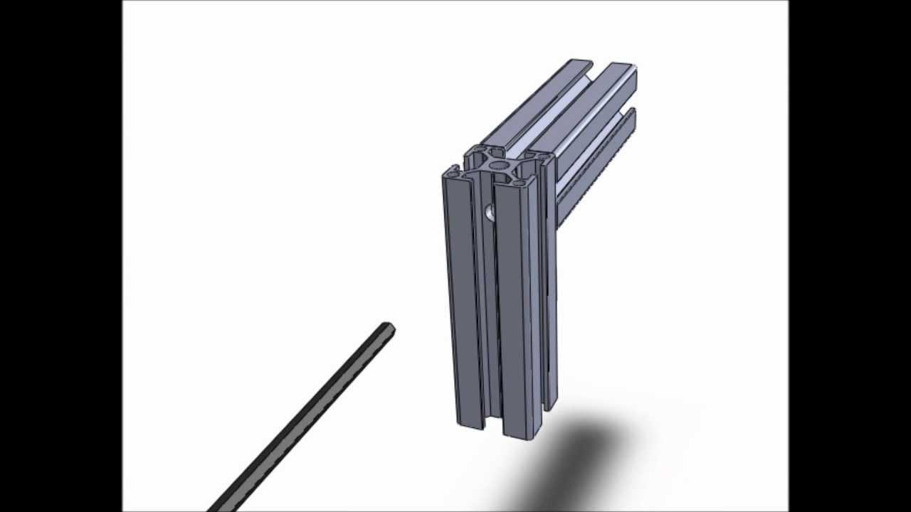 technique d 39 assemblage pour profiles aluminium modulaires n 2 youtube. Black Bedroom Furniture Sets. Home Design Ideas