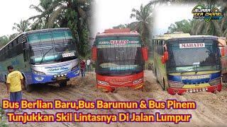 Download lagu Tiga Bus Berlian Baru Barumun & Bus Pinem Beradu Skill Di Jalan Lumpur