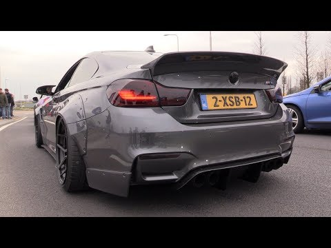 liberty walk bmw m4 f82 w akrapovic exhaust lovely. Black Bedroom Furniture Sets. Home Design Ideas