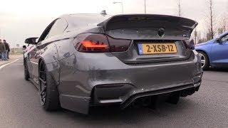 Liberty Walk BMW M4 F82 w/ Akrapovic Exhaust - Lovely Exhaust SOUNDS!