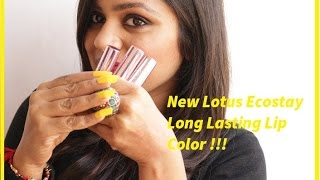 Lotus Makeup Ecostay Long Lasting Lip Color Review|WiseShe Makeup