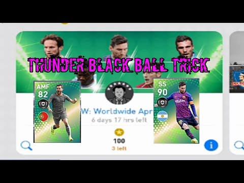THUNDER BLACK BALL TRICK IN POTW WORLD WIDE APRIL 4'19 BOXDRAW/PES 2019.