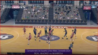 U18M - Cpto.España REAL MADRID vs MANRESA. Junior masc. FEB-Granada 2015