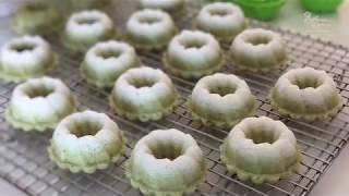 Apam Puteri Ayu Steamed Pandan And Coconut Cake 班兰椰丝小松糕