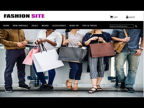 How To Create Shopping Website Using Html And Css Part-1