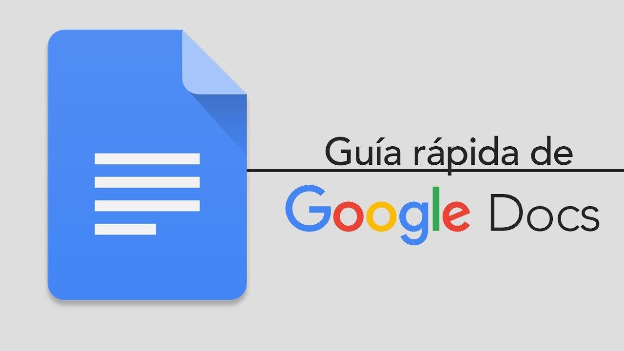 Google Docs Una Guía Rápida Youtube