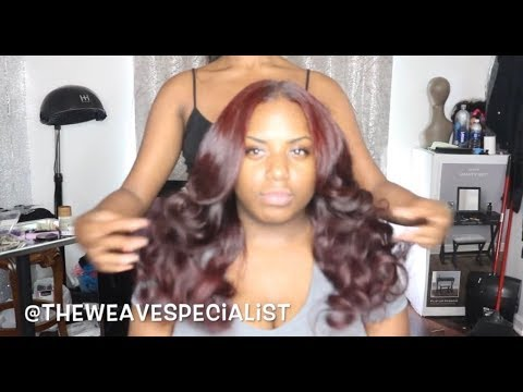 NATURAL MIDDLE PART SEW-IN WITH LEAVE OUT FROM START TO FINISH