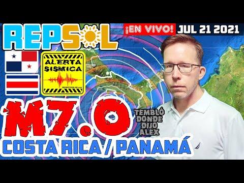 Terremoto M7.0 cimbra Costa Rica y Panamá REPS☼L ¡En Vivo! con Alex Backman Jul 21, 2021 (777777)