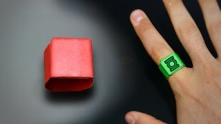 How to make a Paper Ring - Instructions in English (BR)