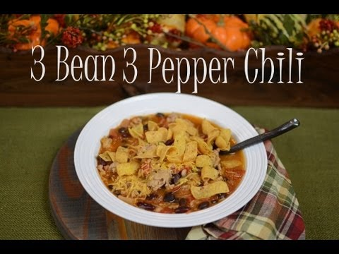 3 Bean 3 Pepper Chili~Gluten Free Naturally