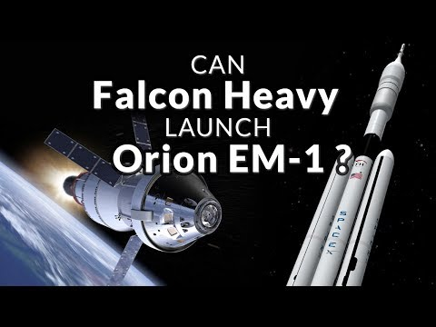 SpaceX Falcon Heavy Launches Orion Exploration Mission 1 - KSP (ft. ShadowZone)
