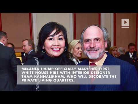 Melania Trump hires interior designer for White House