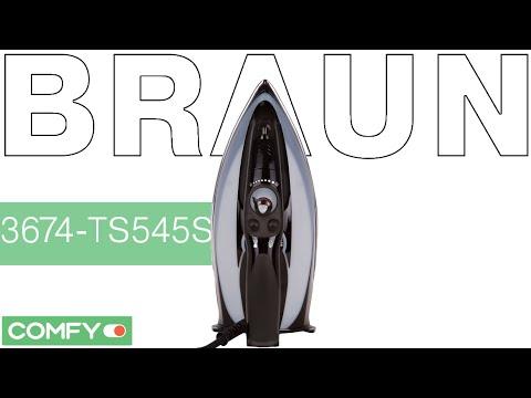Braun 3674-TS545S SI BRAUN BK INT - утюг с прочной подошвой Sapfir - Видеодемонстрация от Comfy.ua
