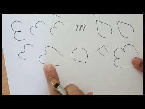 How to draw mehandi in hindi - class 1 - RichaGandhi.in
