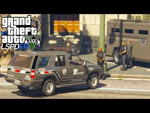 GTA V : MOD POLICIA : ROTA COMANDO DE SP EM AÇÃO, ASSALTANTES DE BANCO SE ARREPENDERAM : ep# 148