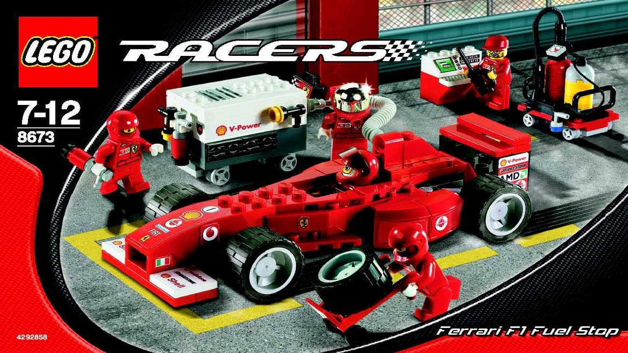 8673 lego ferrari f1 fuel stop instruction booklet youtube. Black Bedroom Furniture Sets. Home Design Ideas