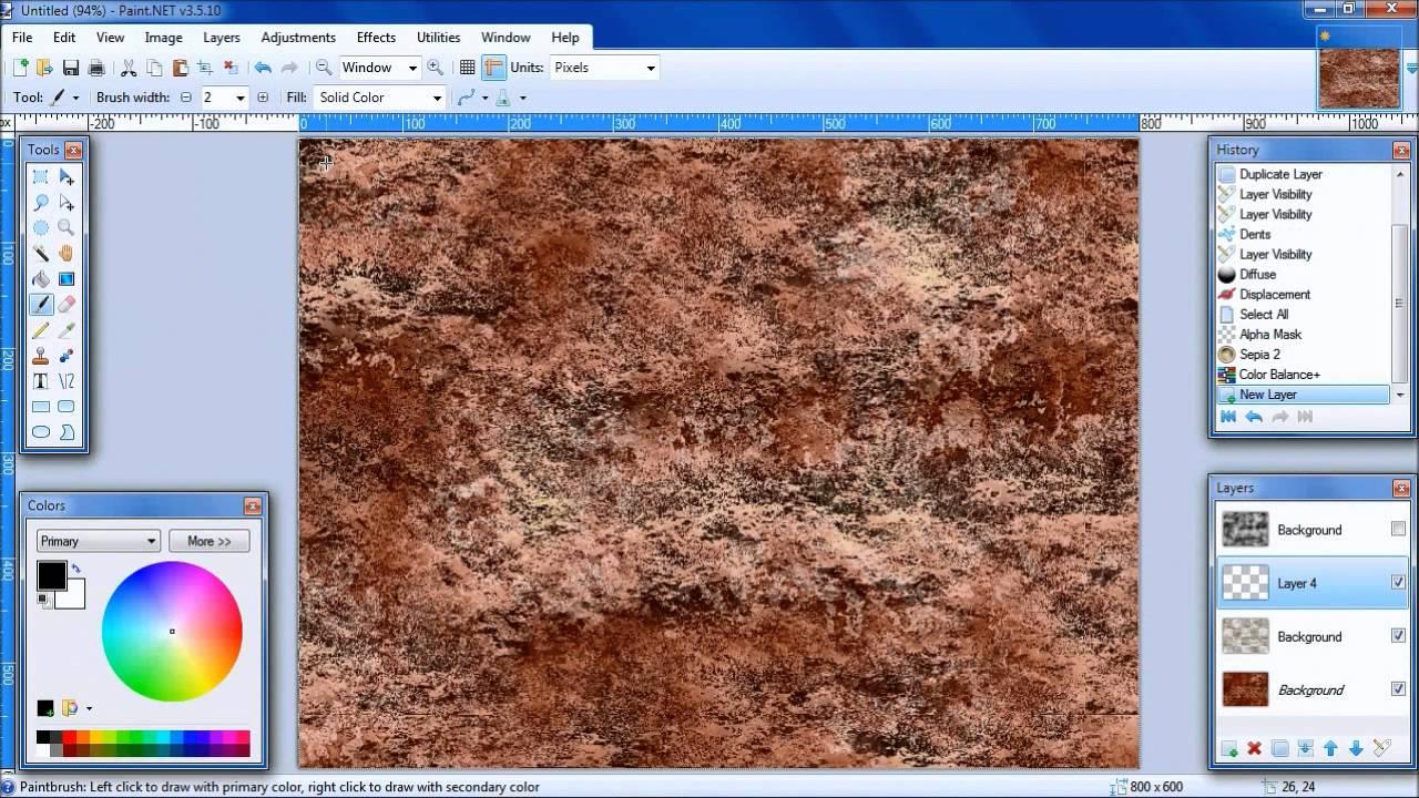 PaintNET Tutorial Make Stone Texture YouTube