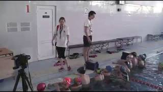 Урок физической культуры в бассейне И. Н.  и В. А.  Крестьяниновых