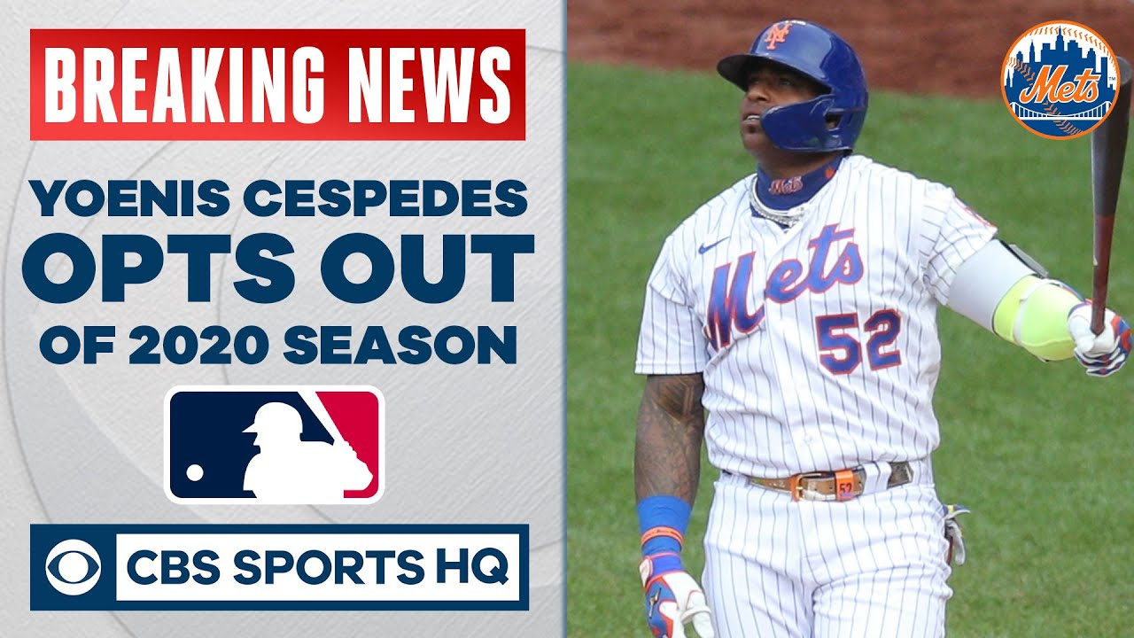 Mets' Yoenis Cespedes Opts Out of 2020 Season