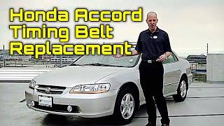 BEST DIY Honda Accord 2.2L 2.3L F22 F23 Timing Belt Replacement w/Water Pump - Bundys Garage