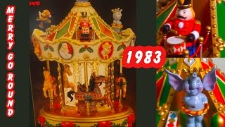 Christmas holiday Merry Go Round from 1983. Round and round it goes.