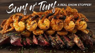 Grilling Impressive SURF n TURF like a pro (Steak & Shrimp)