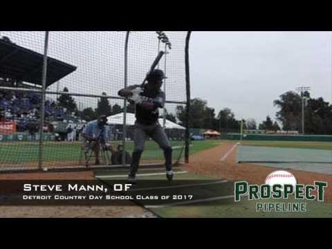 Steve Mann, OF, Detroit Country Day School, Swing Mechanics at 200 FPS
